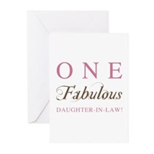 One Fabulous Daughter-In-Law Greeting Cards (Pk of for