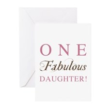 One Fabulous Daughter Greeting Cards (Pk of 10)