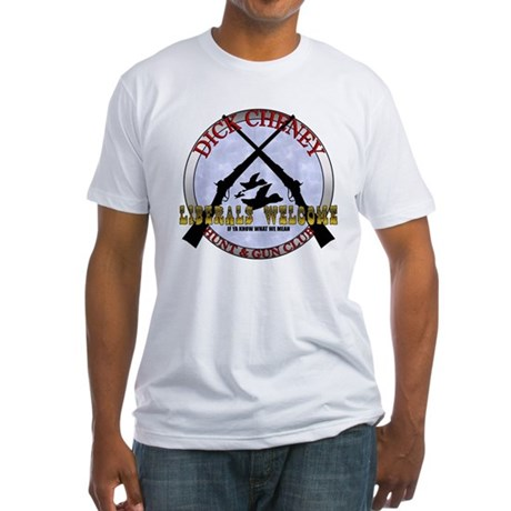 Dick Cheney Gun Club Fitted T-Shirt
