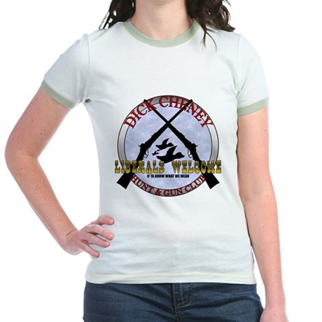 Dick Cheney Gun Club Jr. Ringer T-Shirt