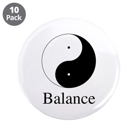 Daoist Balance 3.5 Inch Buttons ~ Pack of 10