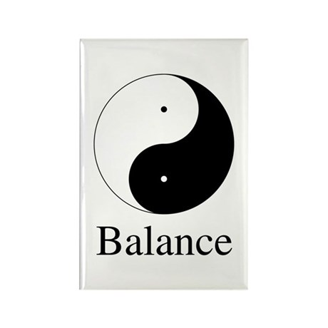 Daoist Balance Rectangle Magnets ~ Pack of 10