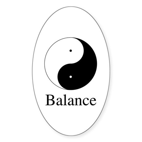 Daoist Balance Oval Stickers ~ Pack of 10