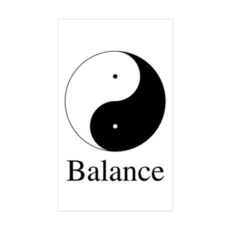 Daoist Balance Rectangle Stickers ~ Pack of 10