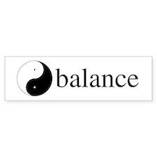 Daoist Balance Bumper Sticker