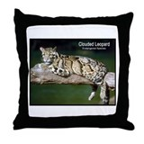 Clouded Leopard Photo Throw Pillow