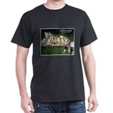 Clouded Leopard Photo (Front) Black T-Shirt