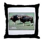 Gaur Bulls Photo Throw Pillow