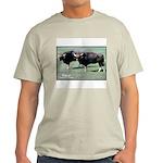 Gaur Bulls Photo (Front) Ash Grey T-Shirt