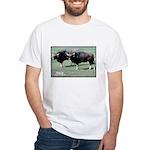 Gaur Bulls Photo (Front) White T-Shirt