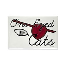 One Eyed Cats Rectangle Magnet (10 pack)
