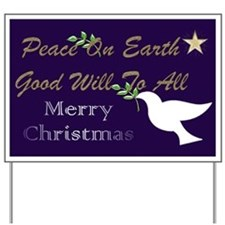 Christmas Dove Yard Sign