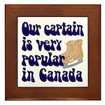 Popular captain Framed Tile