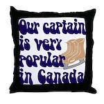 Popular captain Throw Pillow