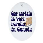 Popular captain Oval Ornament