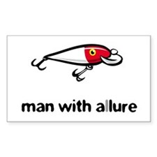 Man with Allure Rectangle Bumper Stickers