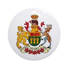 Saskatewan Coat of Arms Ornament (Round)