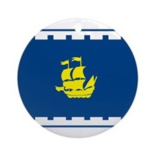Quebec City Flag Ornament (Round)