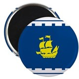 Quebec City Flag 2.25&quot; Magnet (10 pack)