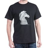Chess Knight Black T-Shirt