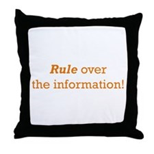 Rule / Information Throw Pillow