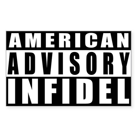 Advisory: American Infidel Rectangle Sticker