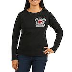 New Zealand Women's Long Sleeve Dark T-Shirt