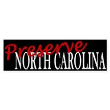 Preserve North Carolina Bumper Bumper Sticker