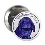 "Cool Lop eared rabbit 2.25"" Button (10 pack)"