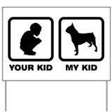 Boston Terrier Yard Sign