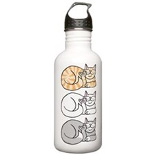 3 ASL Kitties Water Bottle
