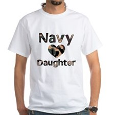 Navy Daughter Heart Camo Shirt