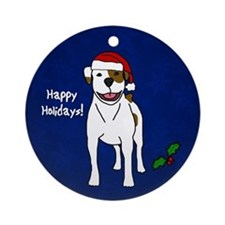 American Bulldog Christmas Ornament