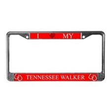 Red I Love My Tennessee Walker Frame