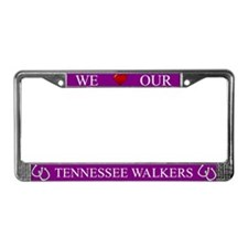 Purple We Love Our Tennessee Walkers Frame