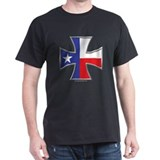 Texas Flag Iron Cross Black T-Shirt