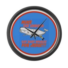 Funny Protest Large Wall Clock
