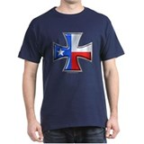 Iron Cross Texas 3D Black T-Shirt