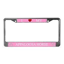 Pink I Love My Appaloosa Horse Frame