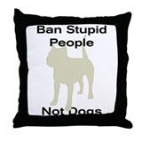 Cute American staffordshire terrier Throw Pillow