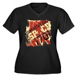 The Final Frontier Women's Plus Size V-Neck Dark T