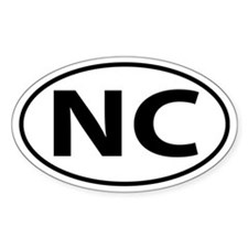 NC Oval decal sticker (Oval)