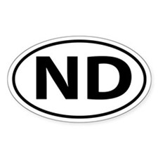 ND Oval decal sticker (Oval)