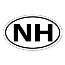 NH Oval decal sticker (Oval)
