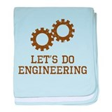 Let's Do Engineering baby blanket