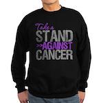 Take a Stand Pancreatic Cancer Sweatshirt (dark)
