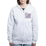 Take a Stand Pancreatic Cancer Women's Zip Hoodie