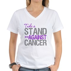 TakeaStandPancreaticCancer Women's V-Neck T-Shirt