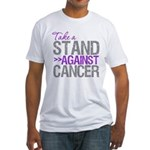 Take a Stand Pancreatic Cancer Fitted T-Shirt