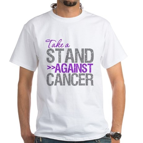 TakeaStandPancreaticCancer White T-Shirt